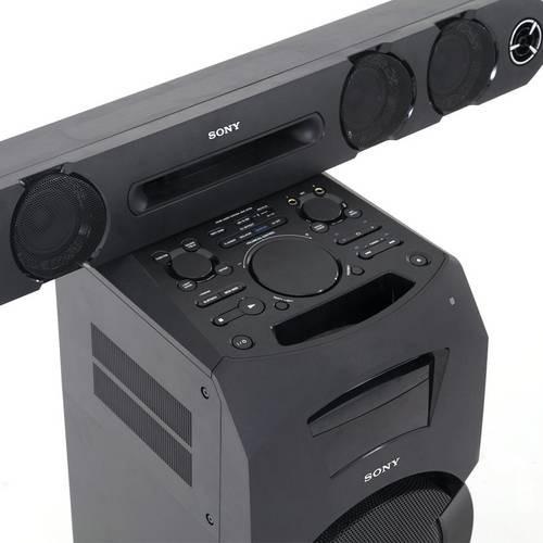 mini system sony subwoofer 600w rms mp3 karaokê - usb mhc-gt