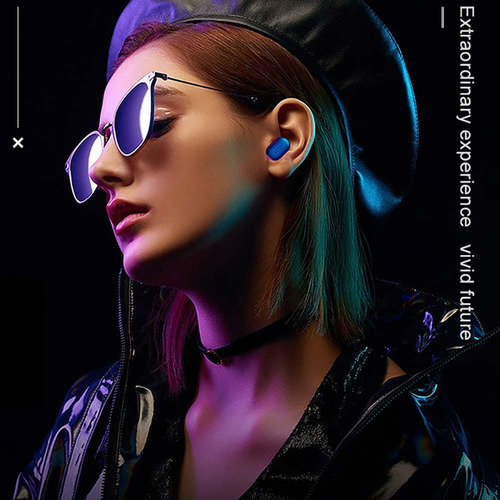 mini t1 audífonos bluetooth 5.0 tws base carga negro