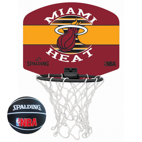 mini tablero basketball spalding spurs heat + pelota basket