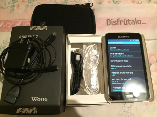 mini tablet samsung galaxy s yp-g70 + cable otg semi nueva
