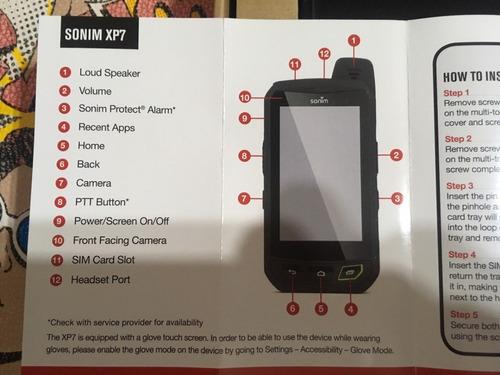 mini tablet sonim ip68 impermeable android 4.2 en caja