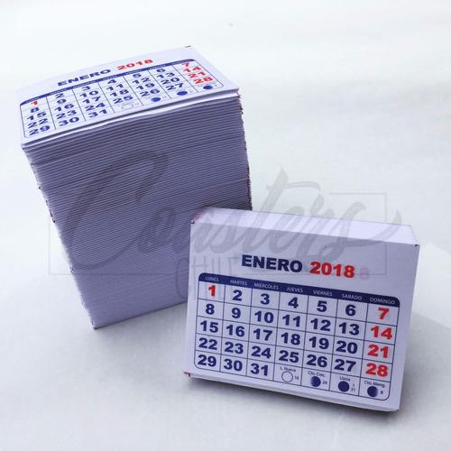 mini taco calendario 2018 para iman magnetico 500 un.