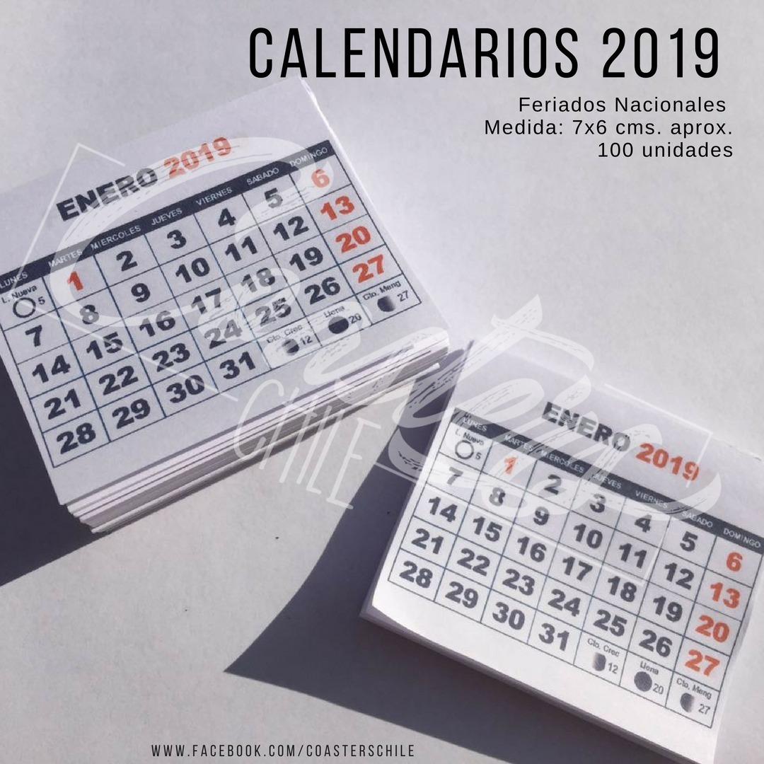 Mini Calendario.Mini Taco Calendario 2019 Para Iman Magnetico 1500 Un