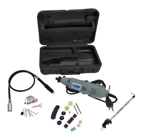mini taladro esmeril  mototool 40 pz + chicote y soporte obi