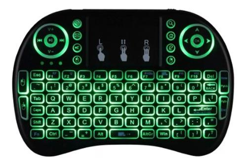mini teclado air mouse touch sem fio tv  wireless c luz
