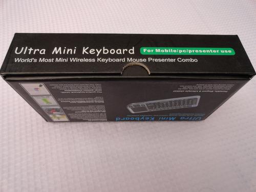 mini teclado bluetooth con touch pad