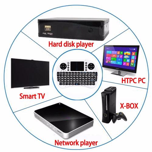 mini teclado bluetooth portátil combo mouse tv smart 2d e 3d