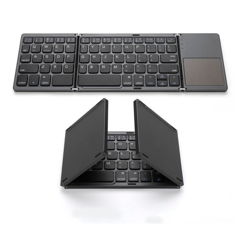 mini teclado bluetooth recargable touchpad plegable - slim