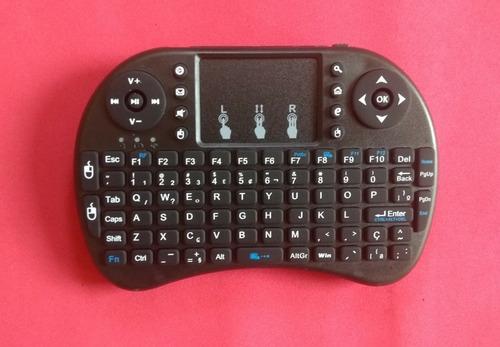 mini teclado bluetooth sem fio smart tv box, android, games