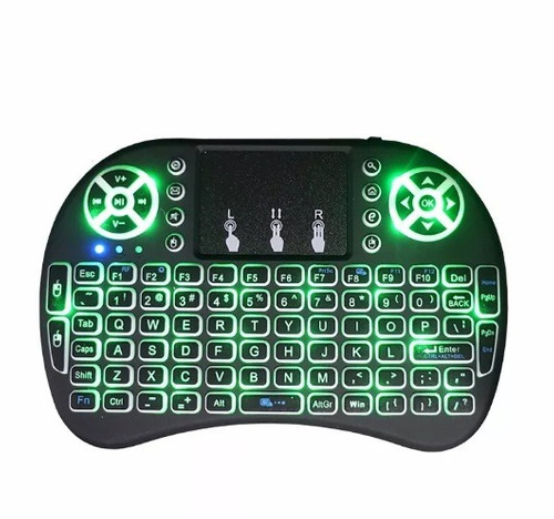 mini teclado com led sem fio usb pc tv box ps3 xbox