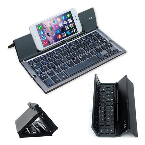 mini teclado con base bluetooth recargable estuche