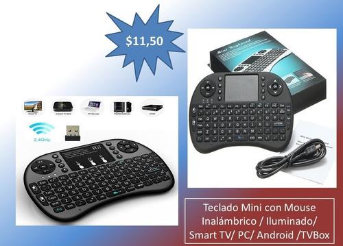 mini teclado con mouse inalámbrico