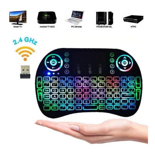 mini teclado gamer inalambrico touchpad android, tv, windows