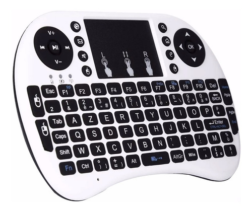 mini teclado iluminado inalambrico touchpad smart tv pc usb