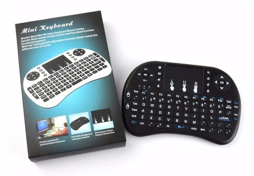 mini teclado iluminado led smart tv inalambrico tv box