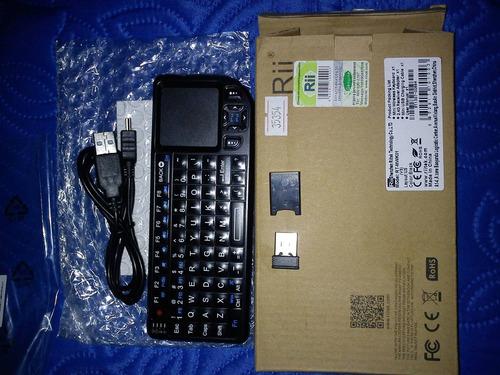 mini teclado inalambrico 2.4g con puntero laser