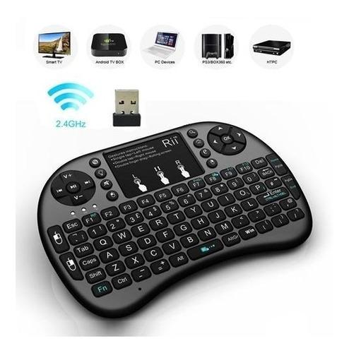 mini teclado inalámbrico airmouse android smart tv iluminado