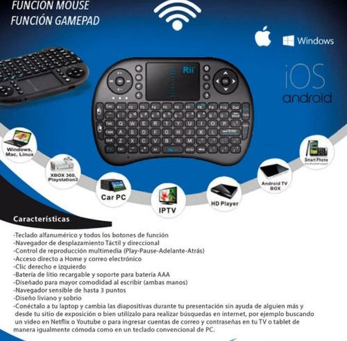 mini teclado inalambrico control remot pc, xbox, tv box