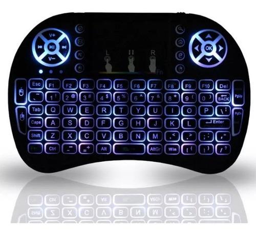 mini teclado inalámbrico iluminado para tvbox + envío gratis