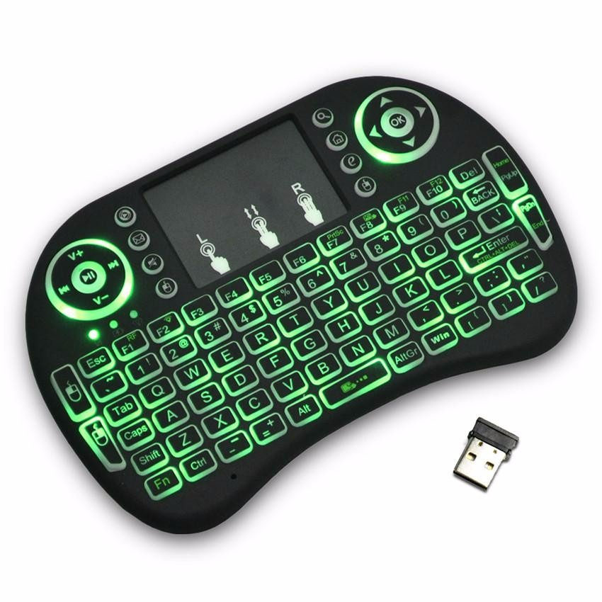 Mini Teclado Inalambrico Iluminado Usb Para Android Tv Y