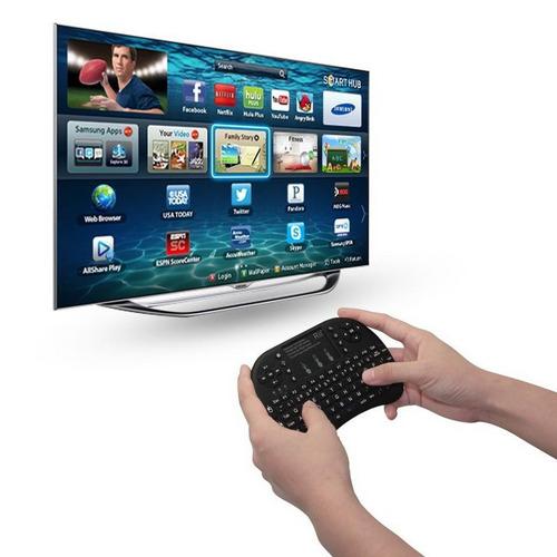 mini teclado inalambrico mouse luz led smarttv android tvbox