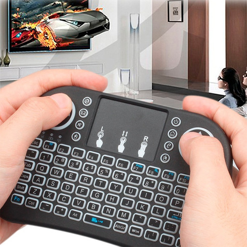 mini teclado inalambrico retroilumin led smarttv android ttp