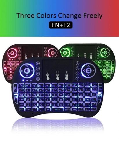 mini teclado inalambrico retroiluminado  con batería