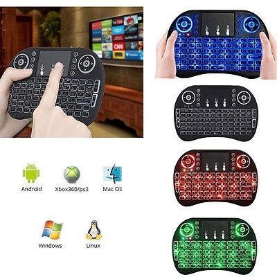 mini teclado inalambrico retroiluminado con batería touchpa