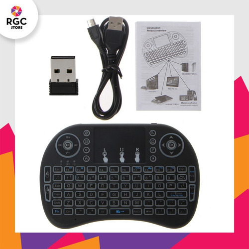 mini teclado inalambrico retroiluminado recargable touchpad