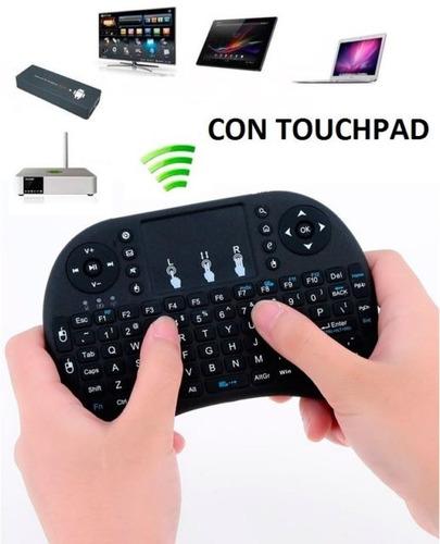 mini teclado inalambrico touchpad smart tv android windows