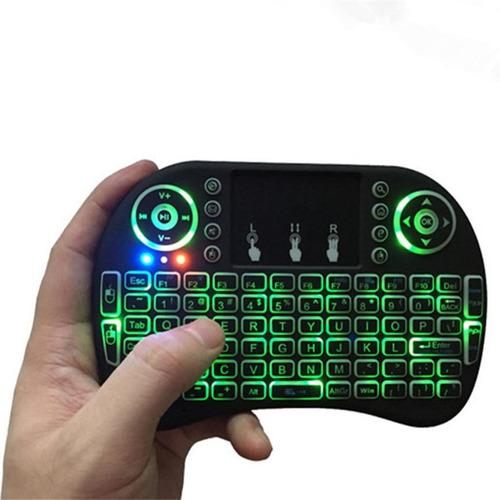 mini teclado inalámbrico touchpad smartv pc tvbox 3 colores
