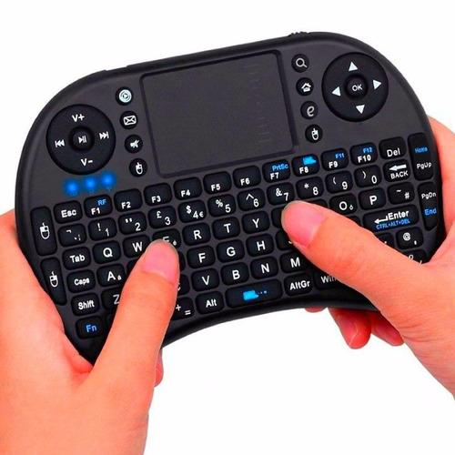 mini teclado inalámbrico tv box retroiluminado celular pc