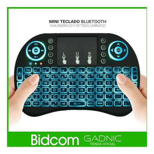 mini teclado inalambrico tv box touchpad smart tv iluminado