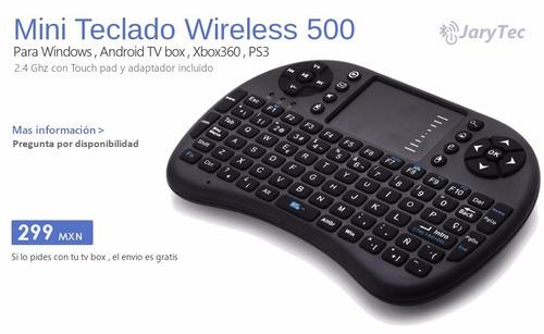 mini teclado inalambrico tvbox windows android jarytec