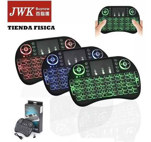 mini teclado inalambrico y mouse android con touchpad jwk