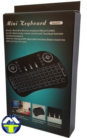 mini teclado led iluminado wirelles p/ tvbox, smart tv