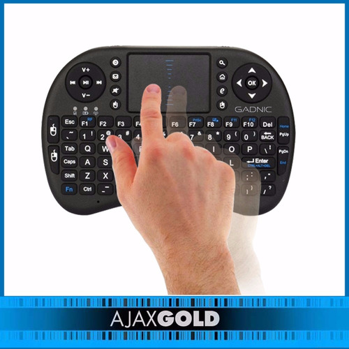 mini teclado led inalambrico tv box android pc smart tv