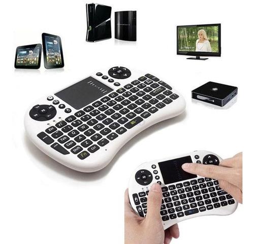 mini teclado led luz sem fio wireless touch pad tv box uni