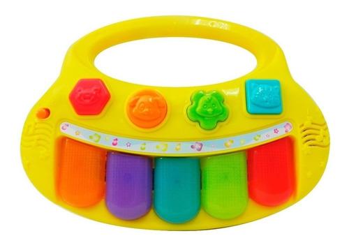 mini teclado luminoso con sonido winfun