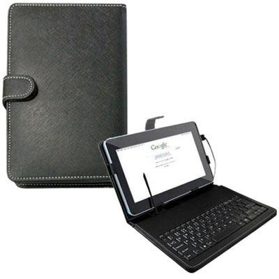 mini teclado multilaser slim usb capa tablet 8 preto tc156