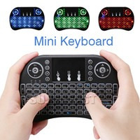 mini teclado retroiluminado android inambrico touchpad