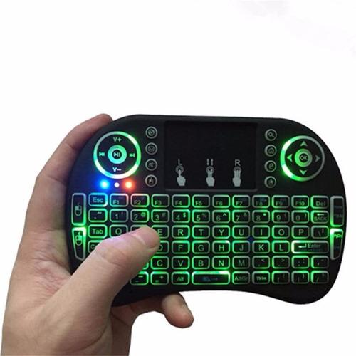 mini teclado rii retroiluminado para tv smart tv box pc tcl