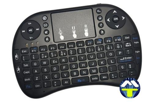 mini teclado sem fio wirelles p/ tvbox, smart tv e games