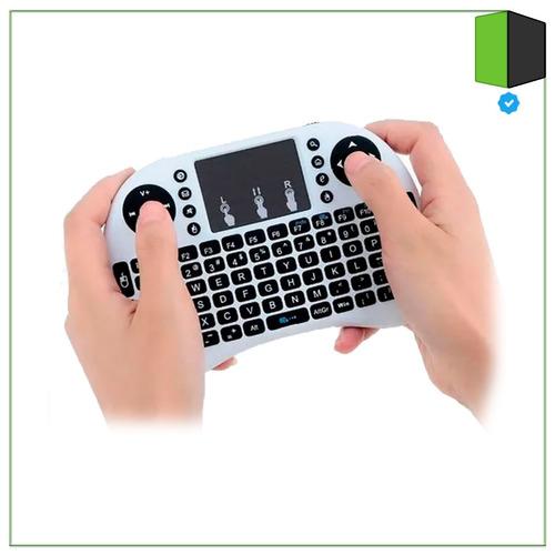 mini teclado touchpad backlight i8 usb wifi blanco