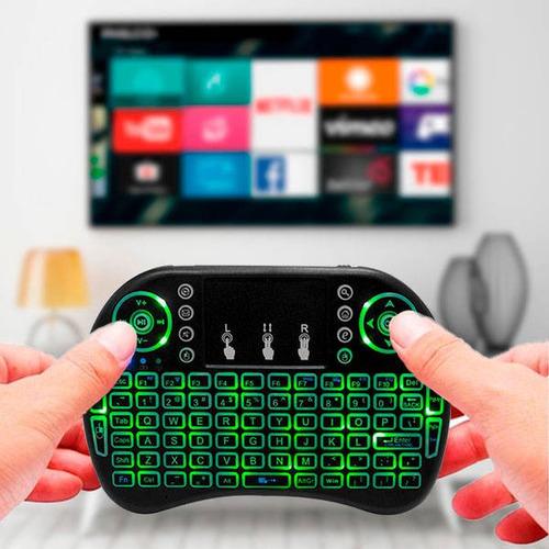 mini teclado wireles con luz para pc smart tv box tv ps3