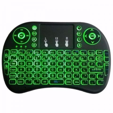 mini teclado wireless bluetooth com luz pc tv ps3 xbox boxtv