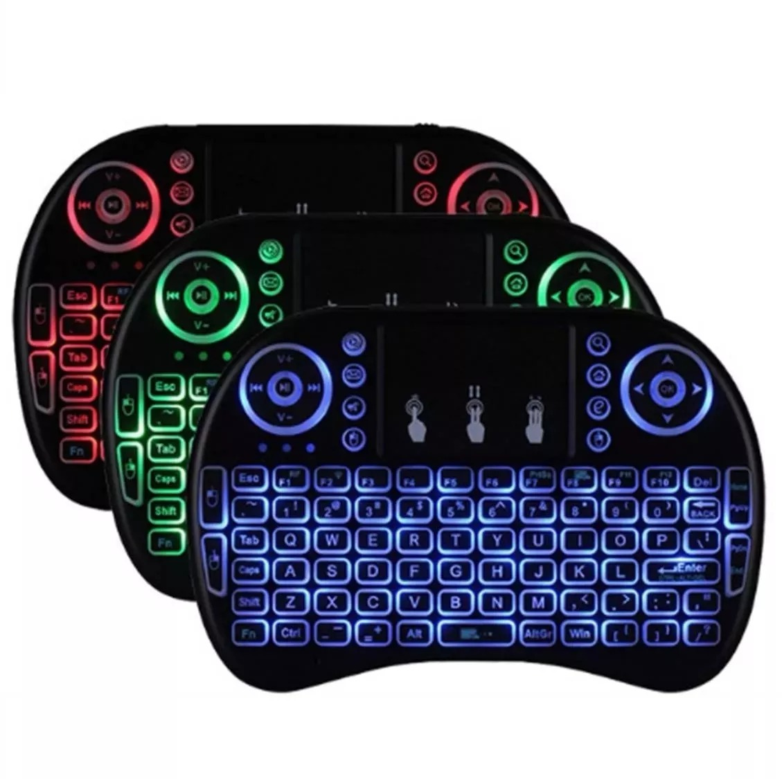 Mini Teclado Wireless Bluetooth Com Luz Pc Tv Ps3 Xbox