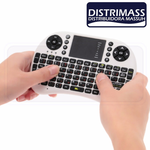 mini teclado wireless universal para smart tv y mas