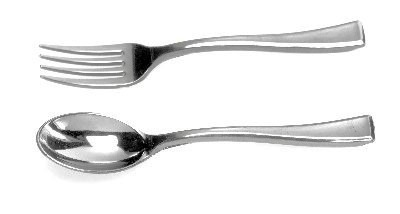 Mini tenedor cuchara cubiertos postres catering for Tenedor y cuchillo en la mesa