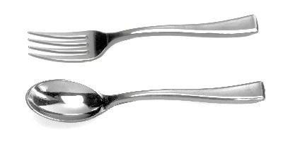 Mini tenedor cuchara cubiertos postres catering - Cuchara de postre ...